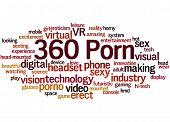 360 Porn, Word Cloud Concept 8 poster