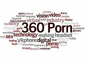 360 Porn, Word Cloud Concept 9 poster