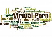 Virtual Porn, Word Cloud Concept 2 poster