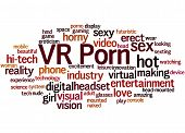 Vr Porn, Word Cloud Concept 8 poster