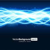 Blue smooth waveform vector background