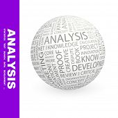 ANALYSIS. Globe with different association terms.