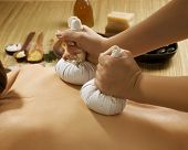 stock photo of thai massage  - Spa Thai Massage - JPG