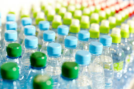 picture of plastic bottle  - Image of many plastic bottles with water in a shop - JPG