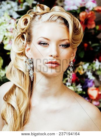 Beauty Young Blond Woman Bride