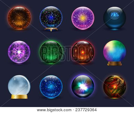Magic Ball Vector Magical Crystal