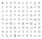 Outline Web Vector Outline Icon Set - Sport And Fitness poster