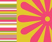 Neon Flowers And Stripes Collage