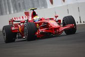 VALENCIA, SPAIN - AUGUST 23: Felipe Massa with Ferrari F1, pole position of Grand Prix of Europe in
