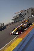 VALENCIA, Espanha - 23 de agosto: Formula 1 grande prêmio da Europa no circuito de rua de Valência - Piquet com