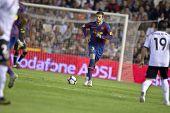 VALENCIA, España - 17 de octubre - Pique - partido de fútbol de la Liga de fútbol profesional española entre