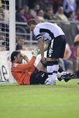 VALENCIA, España - 23 de octubre - Liga profesional de fútbol entre el Valencia C.F. vs Mallorca - Mestal