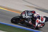 VALENCIA, SPAIN - FEBRUARY 11: Participant in the Moto2 and 125cc Test - Axel Pons - on February 11,