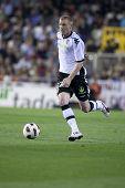 VALENCIA, Spanien - 10. APRIL: Mathieu in der spanischen Fußball-Liga zwischen Valencia c.f. Vs Villarre