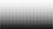Halftone Gradient Pattern Vertical Vector Illustration. Black White Dotted Halftone Texture. Pop Art poster