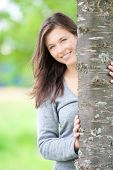 Outdoor Portrait Of A Cute Teen