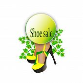 Banner For Sales Of A Shoe Store, Promotion Day Sales Gensci Shoes, Skidata Card To A Shoe Store, A  poster