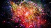 Landscape Of Star Clusters, One Million Years Old. Elements Of This Image Furnished By Nasa. poster