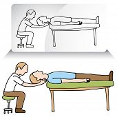 An image of a chiropractor treating a patient.