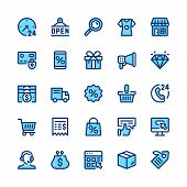 Ecommerce, Internet Commerce, Online Shopping Line Icons Set. Modern Graphic Design Concepts, Simple poster