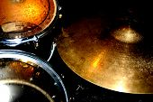 Close Up Drum Set