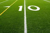 American Football Field Ten Yard Line