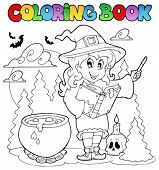 Coloring book Halloween character 2 - vector illustration.