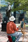 Painting A Statue Of A Painter