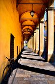 typical porch in Reggio Emilia