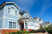 Row Of Bright New Family Homes