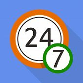 Midnight Clock Icon. Flat Illustration Of Midnight Clock Vector Icon For Web poster