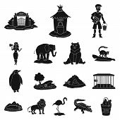 Vector Illustration Of Fauna And Entertainment Symbol. Collection Of Fauna And Park Vector Icon For  poster