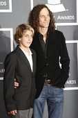 LOS ANGELES, CA - JAN 31: Kenny G, son at the 52nd Annual GRAMMY Awards held at the Nokia Theater on