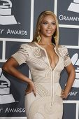 LOS ANGELES, CA - JAN 31: Beyonce Knowles at the 52nd Annual GRAMMY Awards held at the Nokia Theater