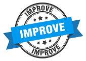 Improve Label. Improve Blue Band Sign. Improve poster
