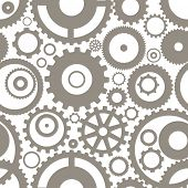 Seamless texture or different gear wheels