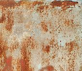 Corroded Metal Background. Rusty Metal Background With Streaks Of Rust. Rust Stains. Rystycorrosion. poster