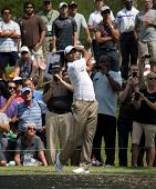 PONTE VEDRA BEACH, FL-MAY 08: Tiger Woods at The Players Championship, PGA Tour, on practice day May