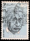 SWITZERLAND - CIRCA 1973: A stamp printed in Switzerland showing Albert Einstein, circa 1973