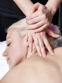 picture of deep-tissue  - Closeup photo of masseur - JPG