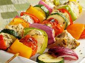 Colorful Chicken Kebabs