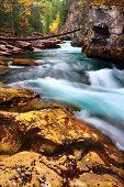 Cascades Of Maligne Canyon Canada