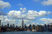 clouds over nyc skyline