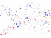 American Presidents Day Stars Background. Confetti In Us Flag Colors For Independence Day.  Gradient poster