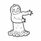 cartoon spooky death ghost