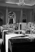 Wedding Table B&w