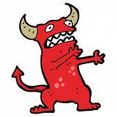 cartoon frightened demon
