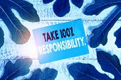 Word Writing Text Take 100 Percent Responsibility. Business Concept For Be Fully Accountable For You poster