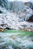 Gomukh, source of Ganga .Ice cave.