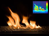 Burning Keyboard with Thermal Image Diagram for Damage Detection